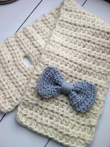 puntos de crochet para bufandas infantiles