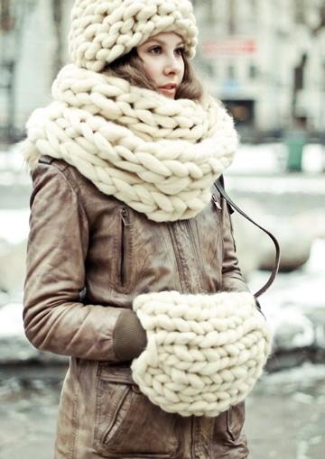 puntos de crochet para bufandas para invierno