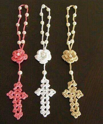 recuerdos tejidos para bautizo rosario