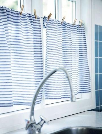 telas para cortinas de cocina a rayas