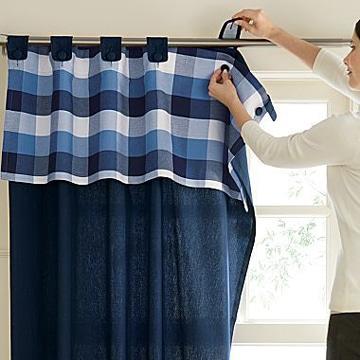 telas para cortinas de cocina con botones