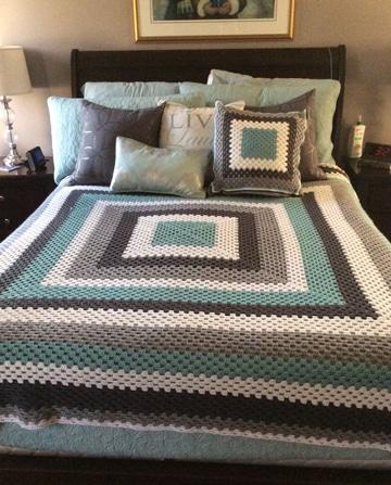 tendidos de cama en crochet modernos