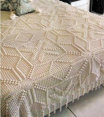 tendidos de cama en crochet sencillos