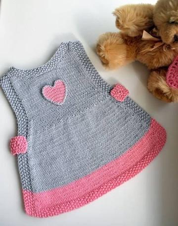 vestidos tejidos para bebe sin mangas