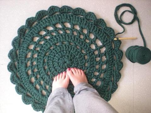 alfombra redonda de trapillo faciles