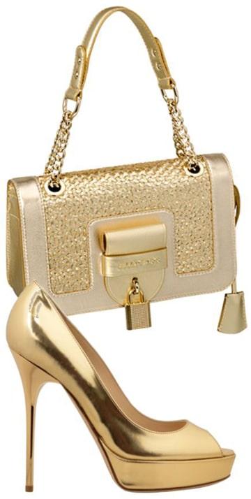 bolsos de fiesta dorados combinacion