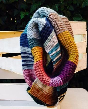 bufandas tejidas de moda de colores