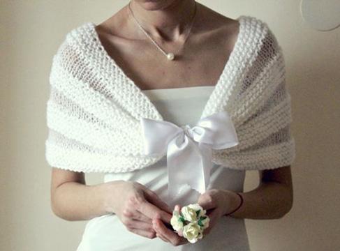 chales de ganchillo para bodas diseño sencillo