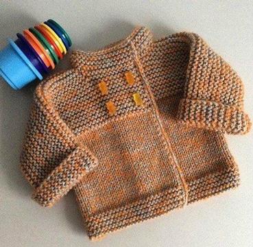 chompas para bebes tejidas a palitos sencillas