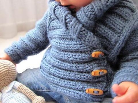 chompas para bebes tejidas a palitos tiernas