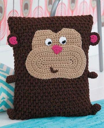 cojines a crochet para niños de animales