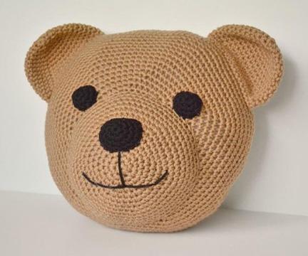 cojines a crochet para niños de osito