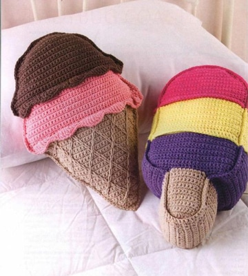 cojines a crochet para niños divertidos