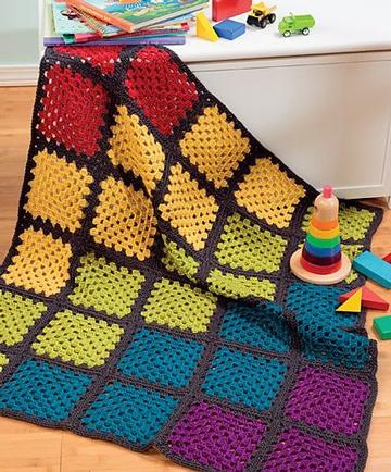 colchas de crochet modernas para niños