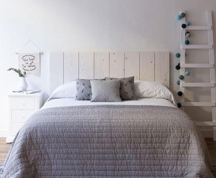 colchas para camas de matrimonio tonos neutros