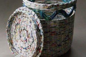 Ideas fáciles sobre como hacer canastas de papel periodico