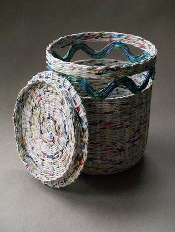 Ideas f ciles sobre como hacer canastas de papel periodico - Hacer cestas con papel de periodico ...