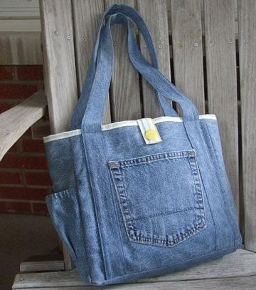 como hacer carteras y bolsos de jean