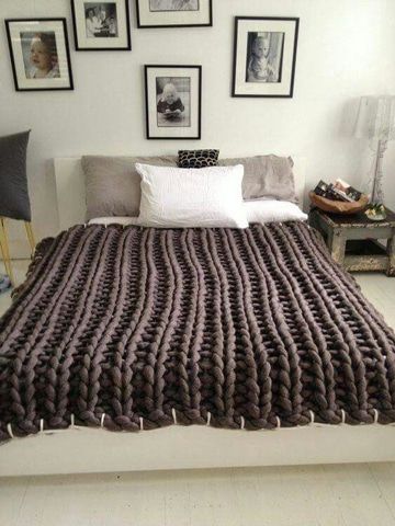 como hacer colchas para cama a gancho