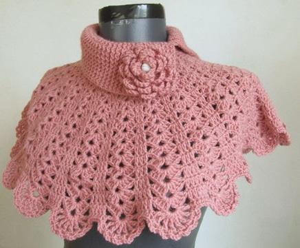 como hacer cuello redondo a crochet
