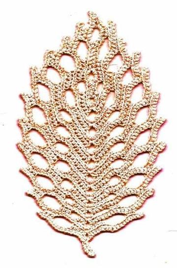 como hacer hojas en crochet grandes