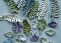 Nada como hacer hojas en crochet para creaciones naturales