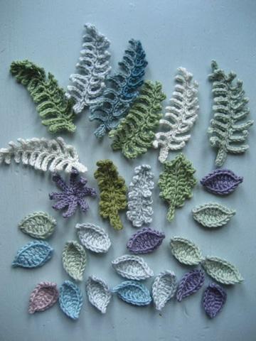 como hacer hojas en crochet modelos