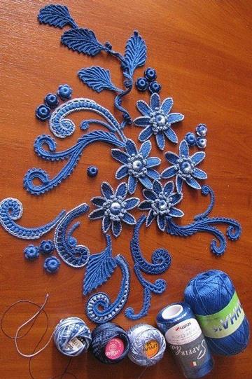 como hacer hojas en crochet para aplique