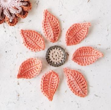 como hacer hojas en crochet super lindas