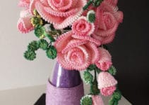 Ideas hermosas y sencillas sobre como hacer rosas a crochet