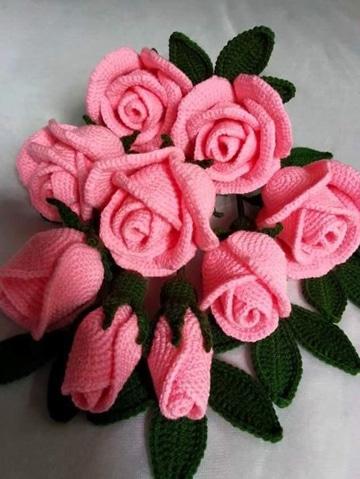 como hacer rosas a crochet super bellas