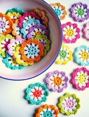como tejer flores con gancho super lindas