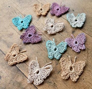 como tejer mariposas a crochet chiquitas