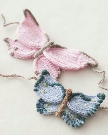 como tejer mariposas a crochet de colores