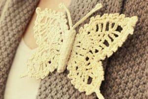 Imágenes sobre como tejer mariposas a crochet para adornos