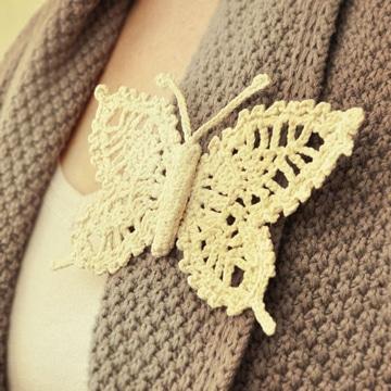como tejer mariposas a crochet para accesorios