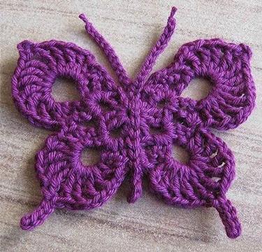 como tejer mariposas a crochet unicolor