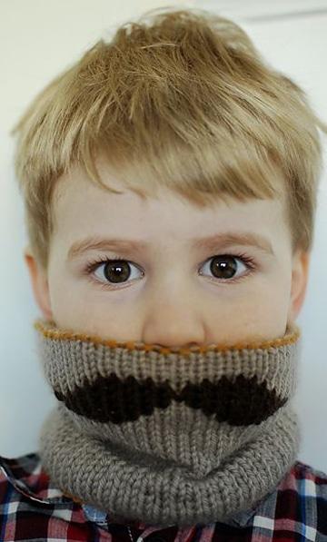 cuellos tejidos para niños graciosos
