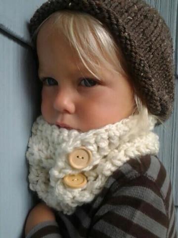 cuellos tejidos para niños para frio