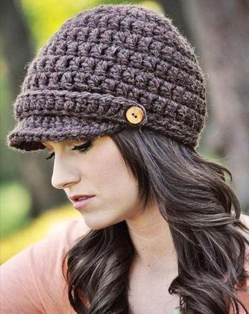 gorras tejidas a crochet para mujer muy comodas