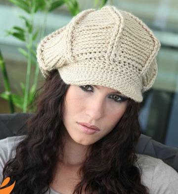 gorras tejidas a crochet para mujer sencillos