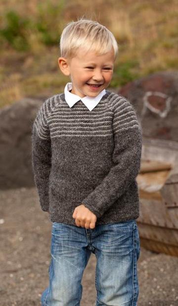 modelos de chompas para niños color gris