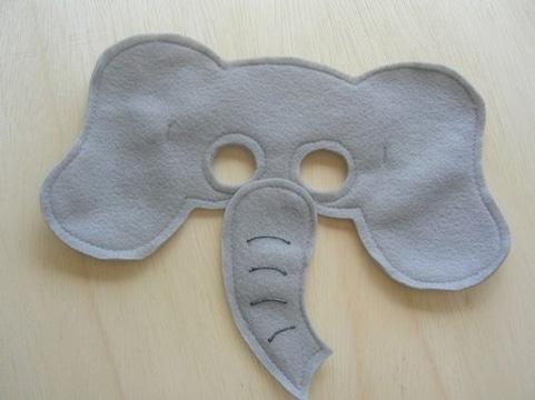 moldes de mascaras de animales de elefante