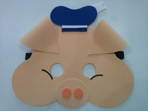 moldes de mascaras de animales en foami