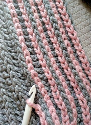 muestras de ganchillo para mantas dos colores