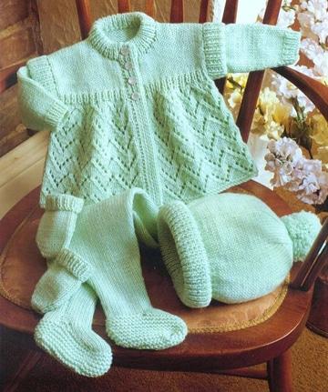sacos tejidos en dos agujas para niños pequeños