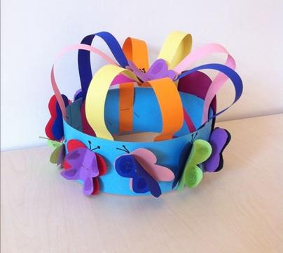 sombreros reciclados para niños faciles