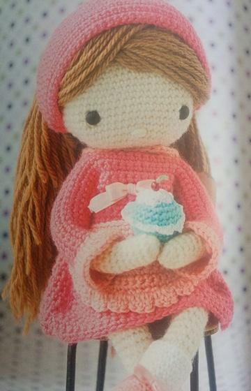 vestidos de muñecas a crochet con mangas