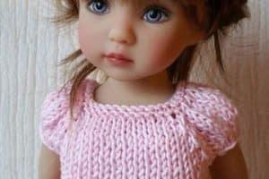 Los vestidos de muñecas a crochet que dan ganas de jugar