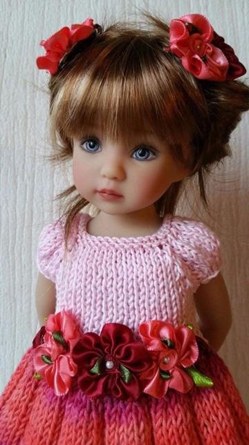 vestidos de muñecas a crochet ganchillo